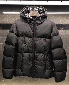 Hommes Moyen Style Long Down Jacket lettres design chaud Manteau de duvet imperméable coupe-vent extérieur Sport capuchon Down Parkas
