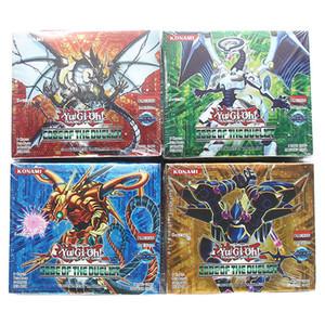 Yugioh Cards 216 pcs definidos com caixa de yu gi oh anime Game Collection Cartões brinquedos para meninos crianças Brinquedo T191021
