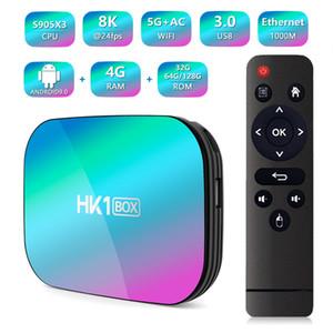 HK1 BOX Android 9. 0 Smart Tv Box Amlogic S905X3 Set Top Box 4GB RAM 32GB 64GB 128GB ROM 2.4 G+5G Wifi 1000M BT4. 0 8k Media Player