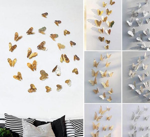 3D Hollow Butterfly Art Wall Stickers Decals Bedroom Room Home Decoration Party Wedding Television Fridge Sticker Room Decoration ALSK102