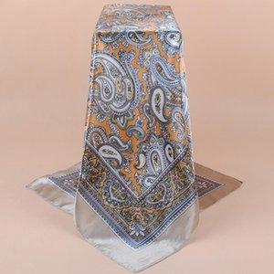 Leopard шарф для женщин Сатин Хиджаб Платков Женского 90cmx90cm Fashion Square шаль платки для дадут Обертывание