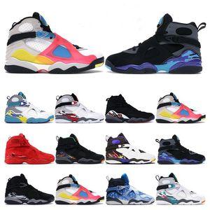 HavaRetroÜrdün 8 8'ler Erkek basketbol ayakkabıları Alternatif Sevgililer Günü Aqua Yayın Krom spor ayakkabı eğitmenleri ayakkabı boyutu 8-13