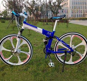 26 * 18 pollici 21 sospensione velocità doppio freno a disco lusso belle bicicleta struttura della lega di alluminio mountain bike bicicletta pieghevole MTB