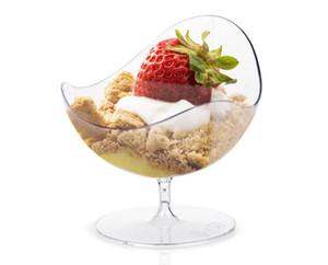 Dessert di plastica bicchiere chiaro da dessert contenitore di ghiaccio scatole coppe alla crema di tiramisù torte semifreddo tuffo gelati e biscotti