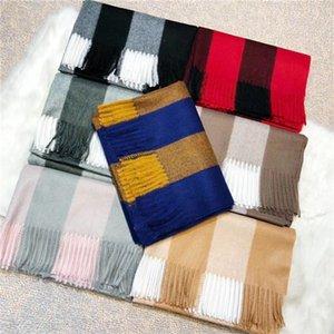 bufanda ocasional otoño letra bufanda de lana de flores borla estilo de diseño de moda y el invierno las mujeres de los hombres y de las