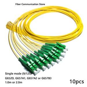 FTTH الكيبل التلفزيوني 10PCS LC / APC الألياف الضفيرة مع طريقة واحدة (G652D، G657A1، G657A2، G657B3) كابل -0.9mm