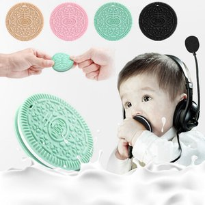 Silicone Cookies Baby Teething Baby Pacifier Soother Teethers Nursing Pendant baby molar training natural safe teether Toys HHA1427