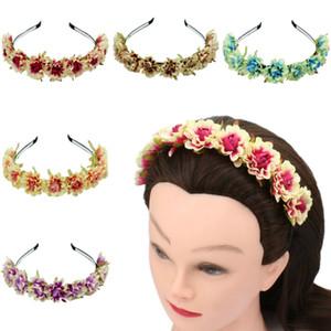 Foto Studio Lady Flower Hair Faixa Acessórios de Cabelo Simulação Pequeno Rose Seaside Férias Grinalda Headwear Spot