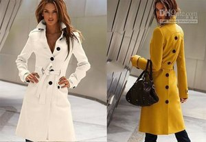 HOT! Fashion Korea Women's Before And After The Open Cut Winter Women's Trench Coat Coats Women's Outerwear Black