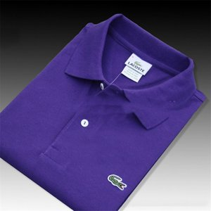 2020 مصمم العلامة التجارية الصيف قميص بولو التطريز رجل لعبة البولو تي شيرت مكتب الأعمال قميص رجل إمرأة ذات جودة عالية الأعلى المحملة B100367K