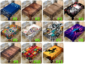 Christmas Printed Table Cloth New Year Christmas 3D Waterproof Cloth Tablecloth Household Table Cover Christmas Decorations HH9-2575