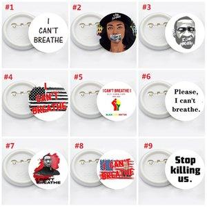 George Floyd Trump ABD Bayrağı Pin Badge Parti Favor ben Broş Siyah Hayatlar Matter Parade Broş T3I5829 nefes alamaz 14styles
