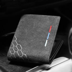Alcantara Men Cartão De Crédito Titular da carta de condução caso de protecção Slim Para Mercedes W204 W212 BMW E90 E46 G30 Audi A3 Mustang