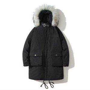 Winter Designer Coats Mens Thick Outerwear Casual Hooded with Fur Mens Solid Long Sleeve Loose Coats