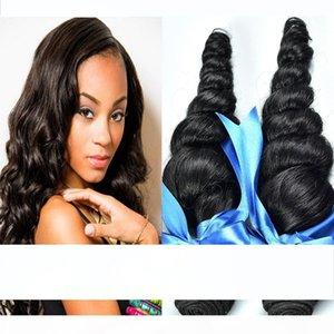 9A Brazilian Loose Wave Human Hair Weft Hair Weave Extensions Natural Color Dyeable Bleachable Unprocessed Hair Products 3pcs Lot