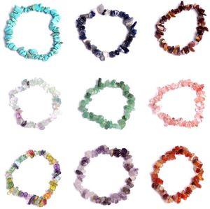 Natural Cura Cristal Sodalite Chip Gemstone 18cm Stretch Bracelete Natural Preciso Preciso Chakra Moda Pulseira Casal Pulseiras