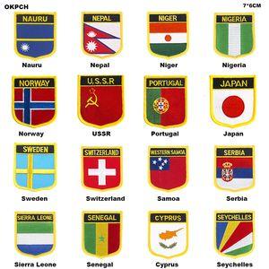 Flag Patch Jacke Denim Kleidung Patches Stickerei Eisen auf Country Flag Badge