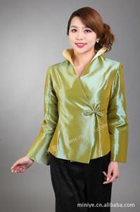 Çin geleneksel giysiler kadın İpek Saten ceket Lady Coat boyutu: M 3XL