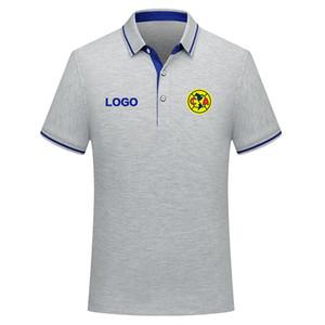 Club America 2020 Business casual POLOS Bequeme Fußball Polo-Shirt Männer T-Shirt Kurzarm-Polo Fußball Männer Training Polo
