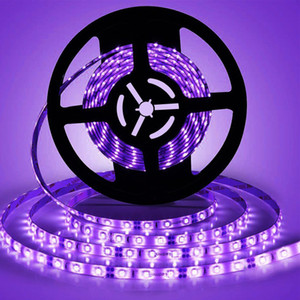 Tira de LED UV de la luz 12V impermeable luces SMD 5050 lámpara UV 1M / 60LEDs para la cubierta fluorescente Dance Party, nivel de iluminación, Pintura de cuerpo
