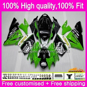 100% Injection Fit For KAWASAKI ZX1000 C ZX 10 R ZX10R 04 05 Corpo 62HM.0 ZX10R 04 05 ZX1000C ZX 10R 2004 2005 verde OEM carenagem Kit Fábrica