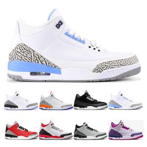 Nike Air Jordan Retro 3 3s дешевые гидро Оптовая новый свободный бросок линия взрыв цемент баскетбол обувь кроссовки Мужская обувь высокое качество Бесплатная доставка США 8-13