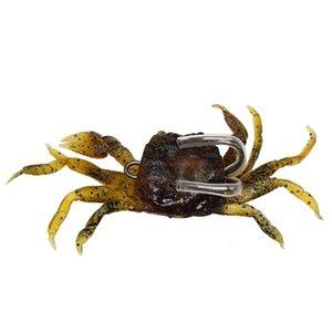 5pcs mixte 3 couleur 10cm 33.4g Crochets de pêche au crabe hameçons Double crochet doux appâts leurres appâts artificiels Pesca accessoires