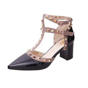 Escarpins femme sapatos mulher saltos grossos sapatos zapatos de mujer dedo apontado sapatos femininos sapato feminino chaussures femme