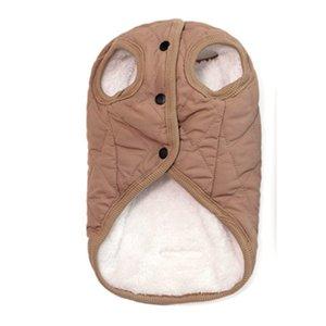 Cálido chaleco del perro de la capa del invierno acolchado de invierno ropa para perros perro piel capucha ajustable del vientre elástico Pitbull Chaqueta
