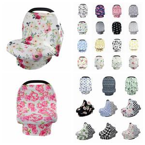 52 estilos de flores de alimentación del bebé recién nacido del niño de enfermería cubierta lactancia materna privacidad de la bufanda del mantón de la cubierta del coche asiento del cochecito Canopy Herramientas