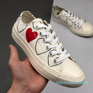 1970 Play shoe chuck 70 all star chaussures Canvas Jointly Big With Eyes Heart Beige Black designer casual Skateboard Sneakers 35-44 14t