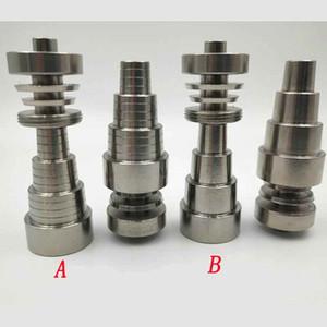 6 en 1 Domeless Titanium Nail Titanium GR2 Clous joint 10mm 14mm 18mm Pour verre bong eau Fumer pipe Tuyau Universel Pratique Rigs De Huile