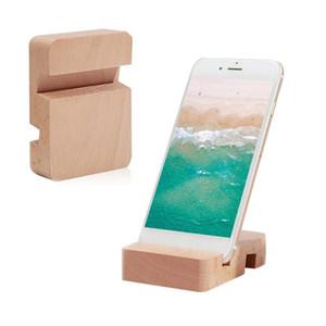 Madeira Suporte Phone Holder para o iPhone de 11 X 8 7 carrinho de madeira do telefone móvel para iPad Samsung S9 S10 Com Retail Box
