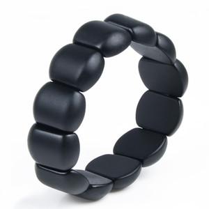 Real Black Bianshi naturel Bian Bracelet pierre pour MenWomen Bianshi Bracelet