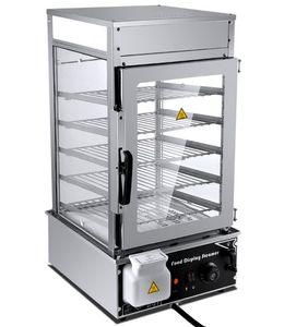 WinYe Paslanmaz Çelik Bun Steamer Makine 5 Katlı Gıda Ekran Isı Koruma Kabine LLFA