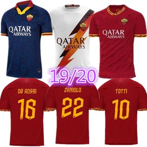 Tayland maillot roma futbol forması De Rossi Dzeko Zaniolo Roma AS 2019 TOTTI PEROTTI 19 20 futbol takımı forması 2020 Boyut S formaları - XXL