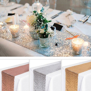 30*275cm Exquisite Table Runner Sequin Shining Tablecloth Dining Table Flag embroider with stars Wedding themeTablecloth Party Decor