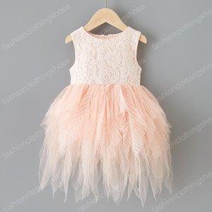Kids Designer ragazze dei vestiti senza maniche maglia Tutu bambini del vestito della principessa del merletto Abiti coreana versione estiva Boutique bambino Abbigliamento