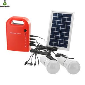 4 1 USB 케이블이 LED 램프와 태양 광 LED 조명 시스템 태양 광 홈 시스템 배터리 충전기 비상 조명 시스템
