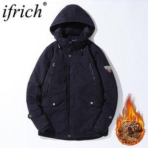 IFRICH хип-хоп куртка с капюшоном куртка мужчины ветрозащитный сгущаться парки хлопок комфорт пальто ветровка пальто китайская одежда для мужчин