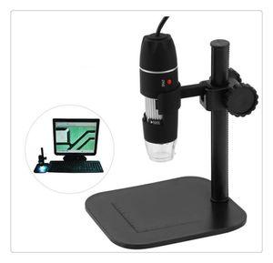 المجهر الإلكتروني 2MP USB 8 LED كاميرا رقمية المجهر المنظار المكبر 50X ~ 1000X قياس التكبير