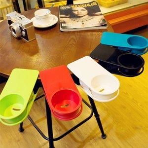 Plastikbecher-Halter-Tabellen-Klipp Drinklip Becherhalter Kaffeetasse Büro Glasvoll Clamp Süßigkeit färbt A03