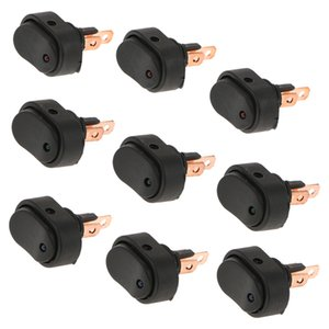 9PCS DC12V 30A Heavy Duty LED OFF ON Rocker Toggle Switch 3Blue+3Green+3Red for Car Boat Truck Modification