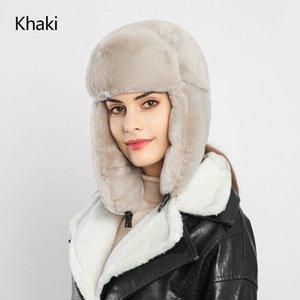 Donne Warm Earmuffs addensare Ear-sbatteva Cappello Faux Fur Lei Feng Cappellino invernale Faux Fur Thundercap