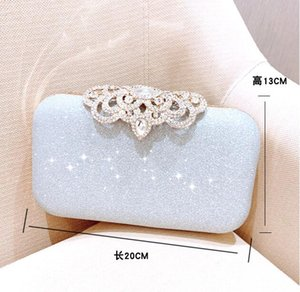HBP handmade beaded dinner bag exquisite fashion and compact, European and American banquet magnetic buckle 8018