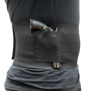 Tactique Slim Wrap Concealed Carry ventre bande pistolet Holster Band Gun Holster 30-37 pouces