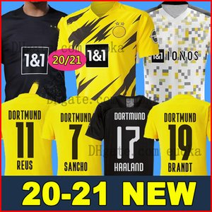 20 21 HAALAND Borussia SANCHO dortmund maillot de foot 2020 2021 Maillot de foot 110e REUS HUMMELS BRANDT PACO DELANEY hommes + enfants kit MAILLOT