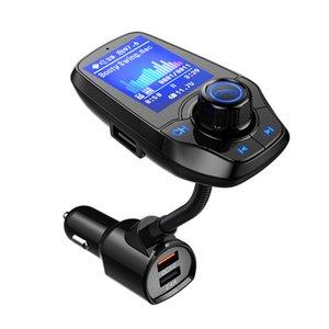 T26D Dual USB зарядное устройство цветной экран FM-передатчик беспроводной Bluetooth Handsfree Car Kit 360 с возможностью поворота автомобиля MP3 Аудио