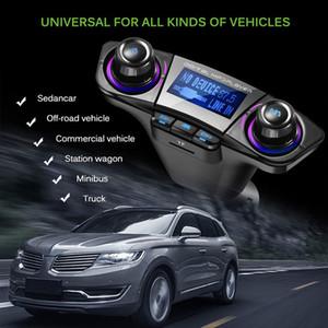 Включение и выключение Bluetooth 5.0 FM передатчик модулятор громкой связи автомобильный комплект TF USB Music AUX Audio MP3 плеер