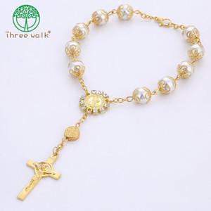 10pcs Collier de chapelet catholique de qualité supérieure Collier de perles de perles de perles de perles de la décennie de chapelet pour femme